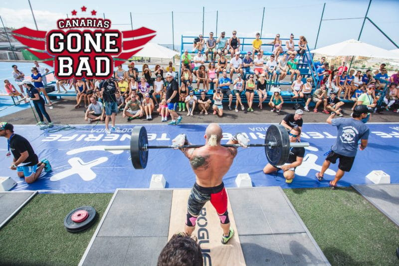 Canarias gone bad 2016 throwdown male crossfit athlete lifting weights
