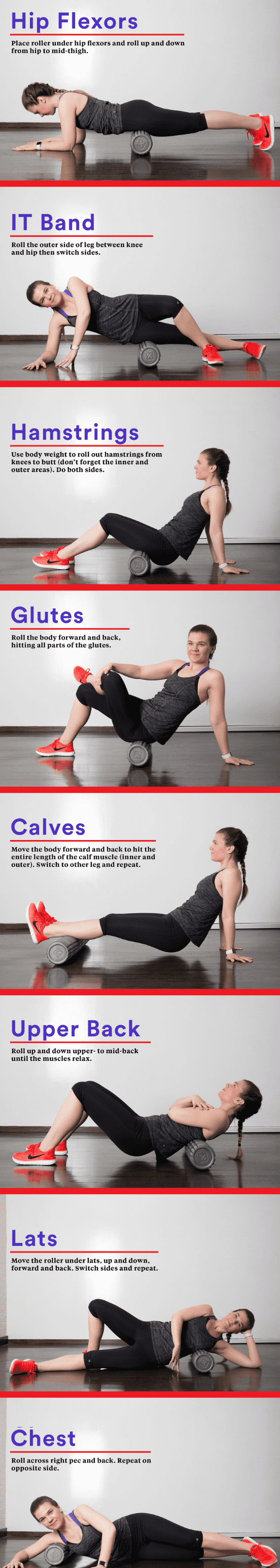 foam rolling different positions