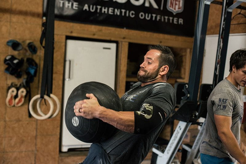 rich froning crossfit games athlete d ball clean to train core strength