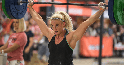 try crossfit Sara Sigmundsdottir Crossfit athlete barbell snatch