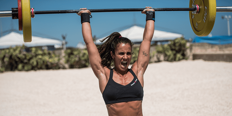 crossfit girl emom workout push press