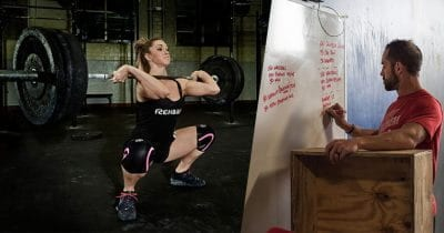 Rich Froning and Mattie Rogers training core strength