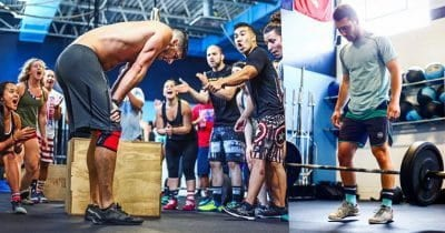 barbel row by crossfit athlete in Box