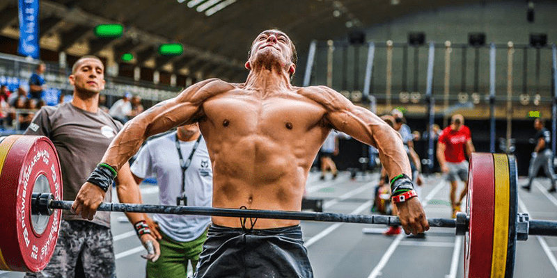barbell exercises snatch lift male crossfitter