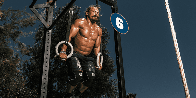 Josh Bridges Crossfit athlete Ring muscle up wod