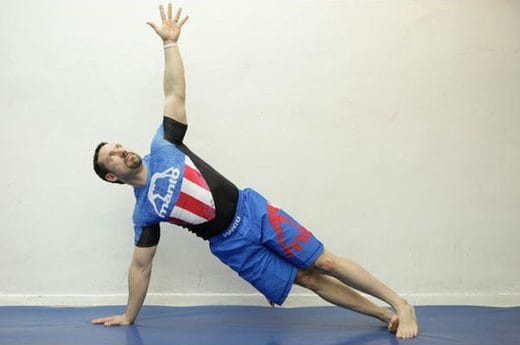 warrior press up exercise