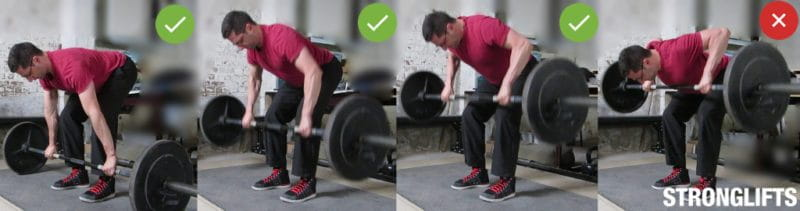 Barbell row technique weightlifting