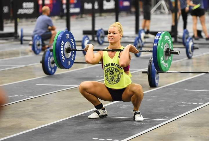 front squat female crossfit athlete