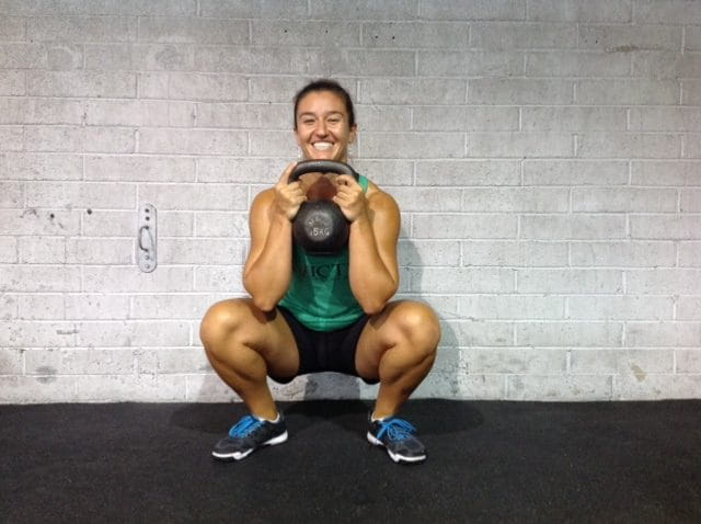 goblet squat female crossfit athlete