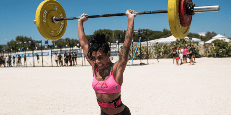 push press crossfit girl