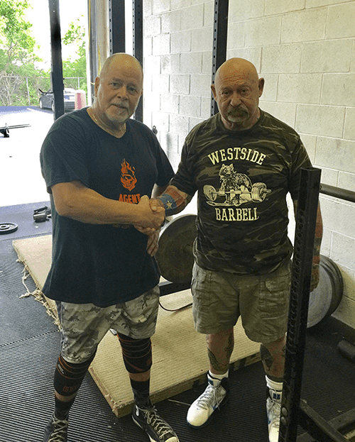 crossfit coach frank zedar with louie simmons