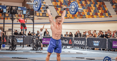 kalsu male athlete exercising in Crossfit competition