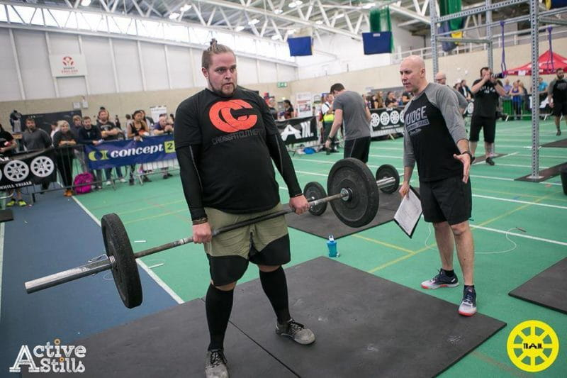 first crossfit competition weightlifting