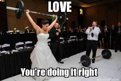 funniest memes wedding weightlifting
