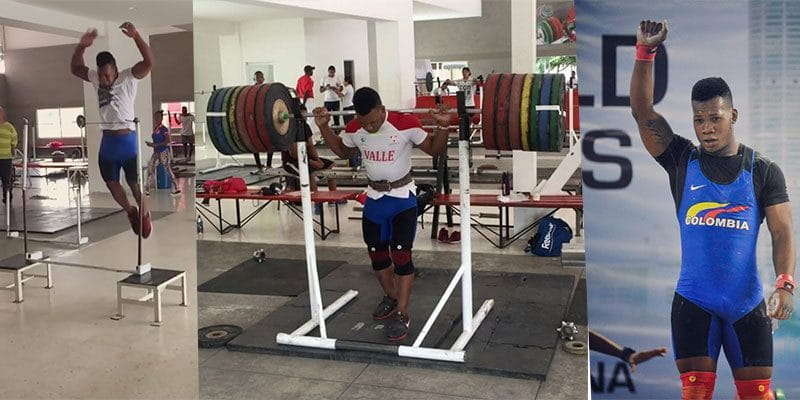 Insane Jumping Skills and a 280 kg Back Squat from Colombian Lifter Jeison Lopez!