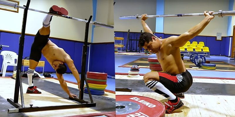 Crazy & Creative Stretching Exercises from Egyptian Lifter Mohamed Ehab