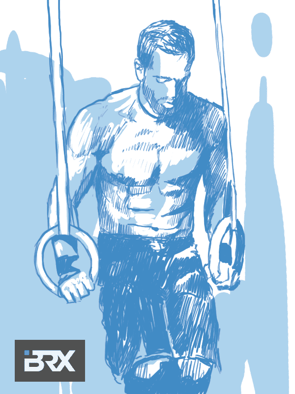 rich froning crossfit artwork portrait