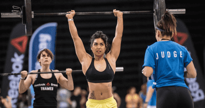 overhead mobility female crossfit athlete