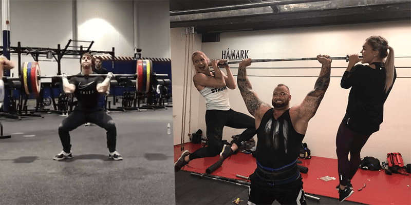 "Crossfitter vs Strongman – Alec Smith vs ""The Mountain"" in a Clean Ladder"