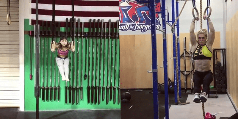 Young Crossfitter Copies Tough Gymnastic Complex from her Idol Katrin Davidsdottir!