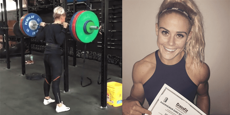 Sara Sigmundsdottir Squats OVER Double Body Weight for a New PR!