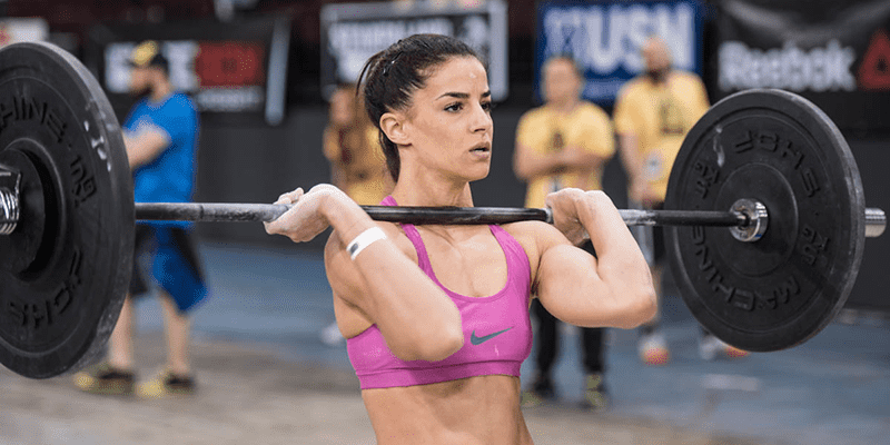 tabata workouts female athlete barbell