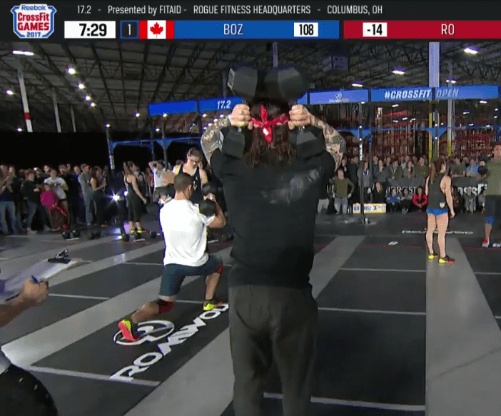 crossfit open workout 17.2 boz dumbbell carry