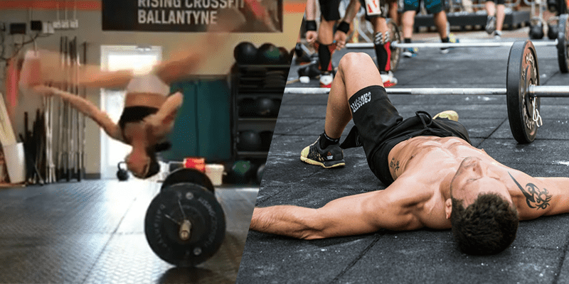 crossfit athlete burpee