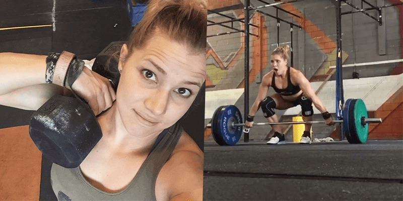 Alexis Johnson PRs her Snatch 5 times During CrossFit Open Workout 17.3!