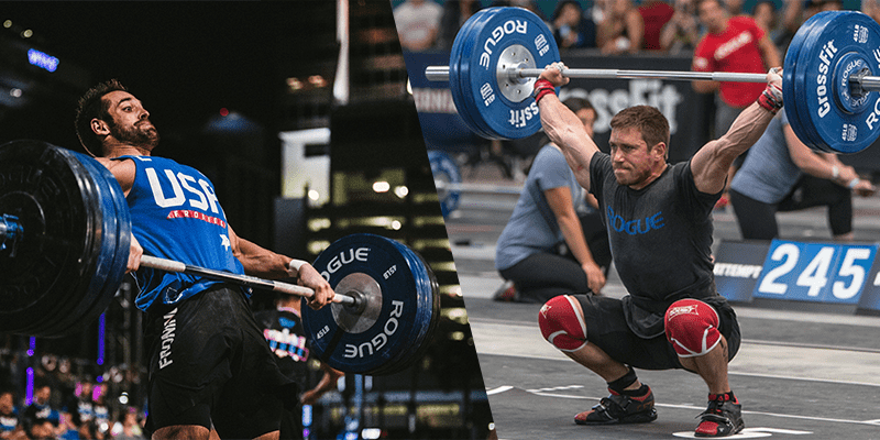 rich froning dan bailey crossfit open workout 17.3