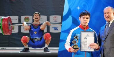17year old snatching 128kg/282lb at the 2017 Youth Worlds