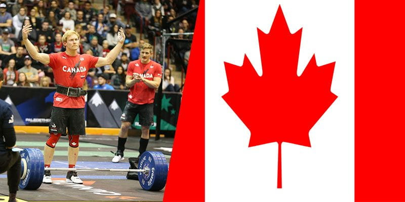 Canadian athletes lifting