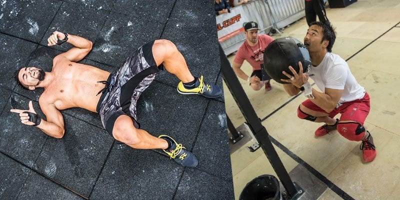 wall balls crossfitters