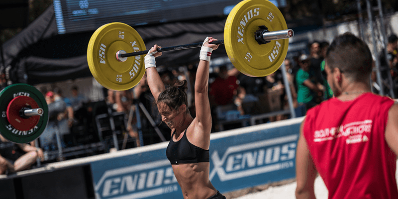 Crossfit woman athlete
