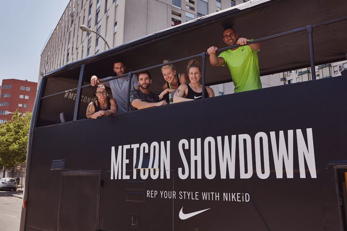 Nike Bus Parked