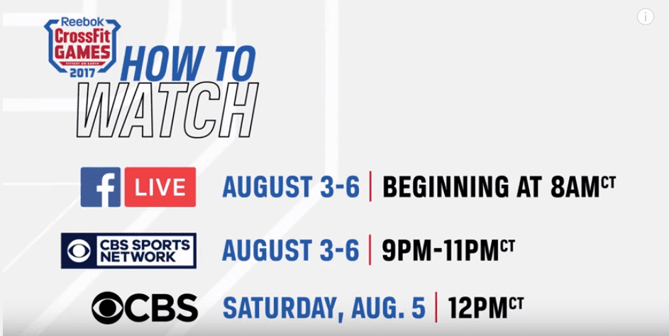 how to watch CrossFit Games 2017