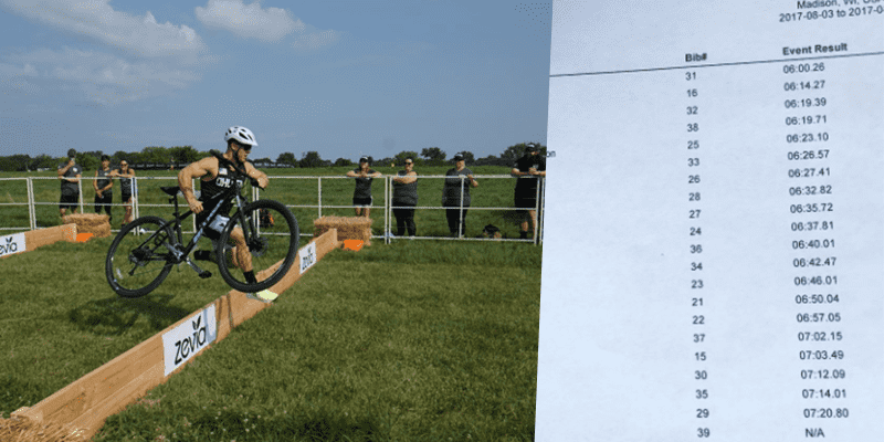 CROSSFIT NEWS – The Results are in for The First Heat of The Men's Cyclocross Timetrial