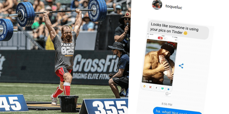 Lukas Parker Has The Best Response to A Guy On Tinder That is Posing as Him!