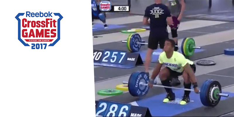 17 Year Old Snatches 131 kg (291 lb) at The CrossFit Games and Beats Mat Fraser's Lift!