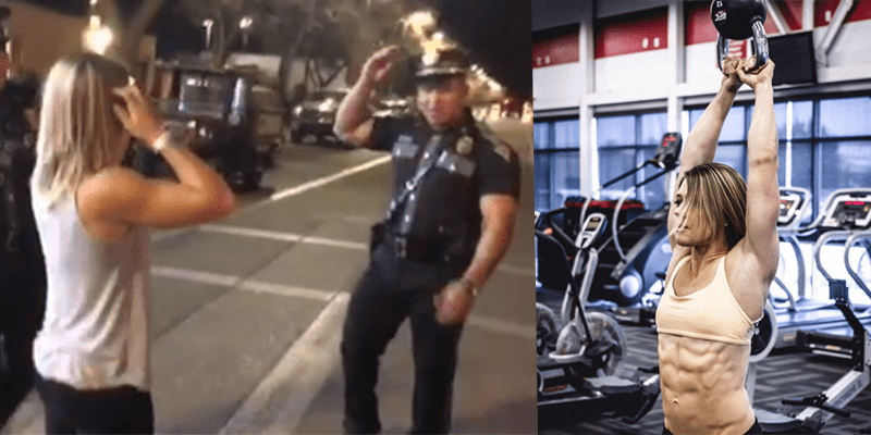 Crossfit TV Reporter Challenges Policeman to Push Up Competition