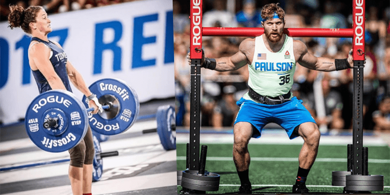 Tia-Clair Toomey and Tim Paulson at CrossFit games