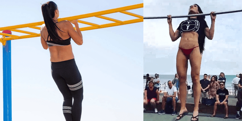 Can You Beat This Girl at Strict Pull Ups?