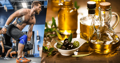 athlete and olive oil