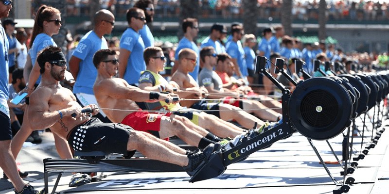 athletes rowing