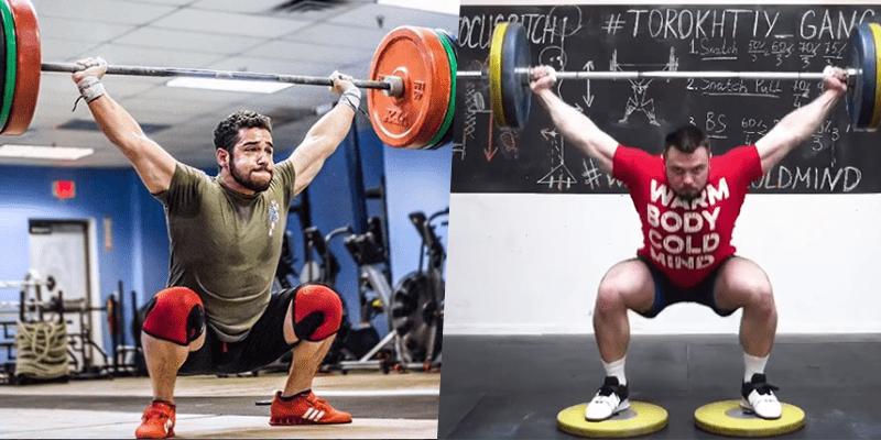 Deficit snatch overhead stability for weightlifting