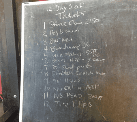 12 Days of Christmas Workout from Josh Bridges