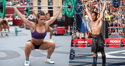 Camille Leblanc Bazinet and Rich Froning
