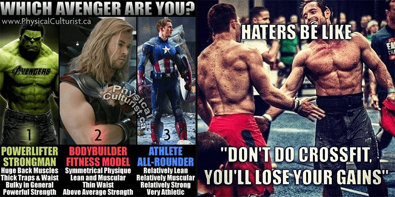 25 Fun Crossfitter vs Powerlifter vs Bodybuilder Memes