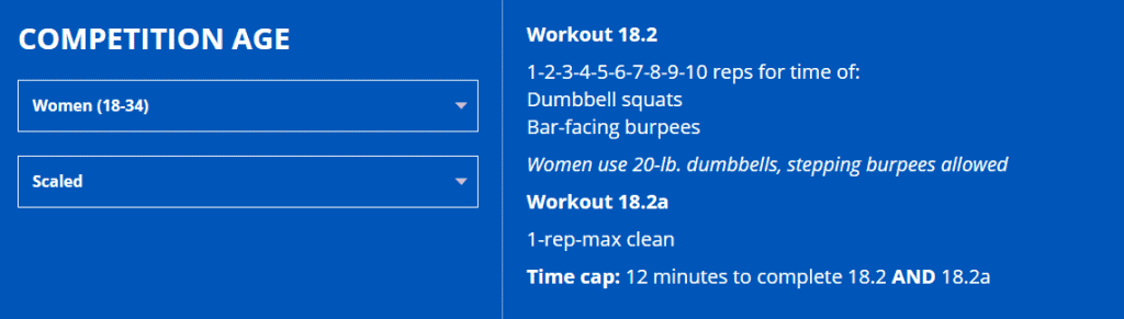 Scaling CrossFit Open Workout 18.2 Women