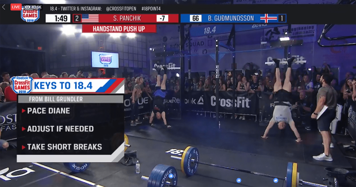 Scott Panchik Wins CrossFit Open Workout 18.4 Live Announcement